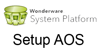 configure wonderware AOS